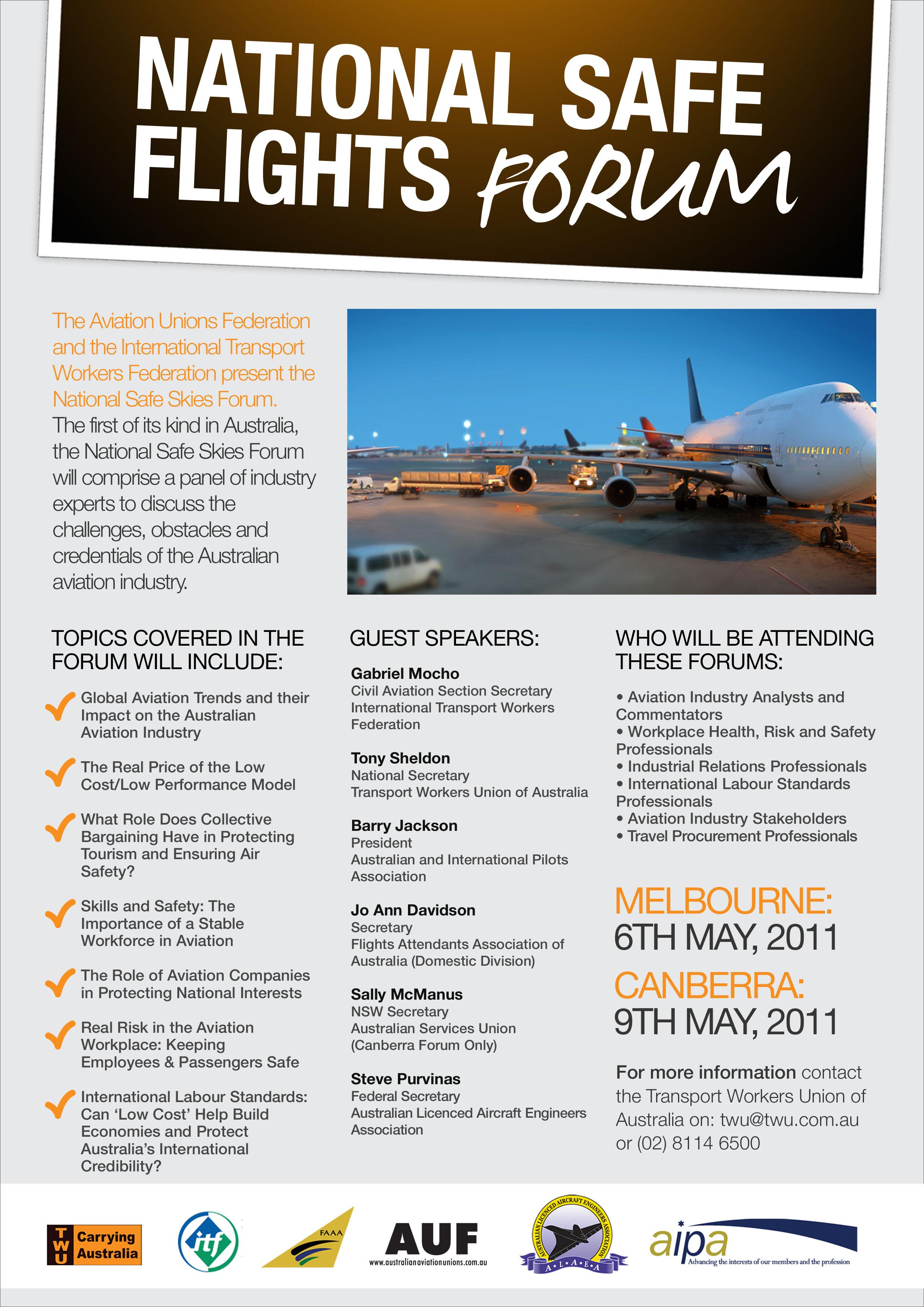 ITF aviation blog » Safe Flights Forum Australia