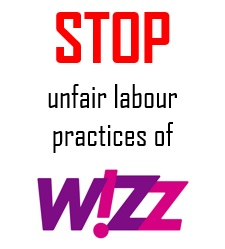 Wizz air: Stop union busting now!  The campaign continues!