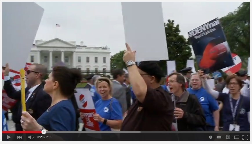 A short video of the #DenyNAI protest rally from AFA-CWA