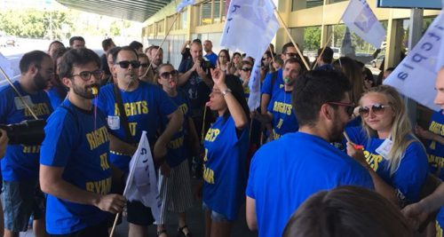 Solidarity message for striking Ryanair workers