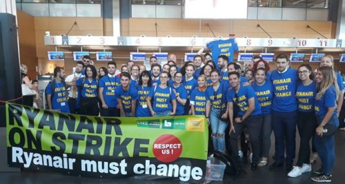 Cabin crew stand up to Ryanair in unprecedented industrial action