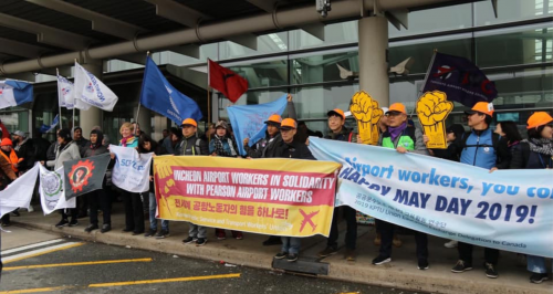 Airport activists organise in Toronto