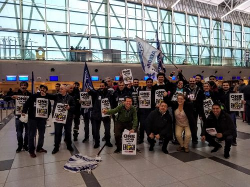 Argentinian aviation workers back airline catering workers in the USA