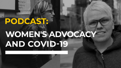 Podcast: women's advocacy and Covid-19