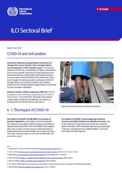 New ILO publication: COVID-19 and civil aviation