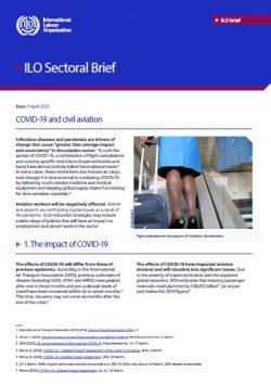 New ILO publication: COVID-19 and civil aviation