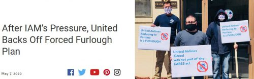 Successful union campaign stops furloughs at United Airlines – for now